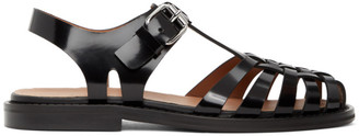 Marni Black Cut-Out Sandals