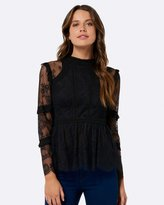 Forever New Charlize Spliced Lace Blouse
