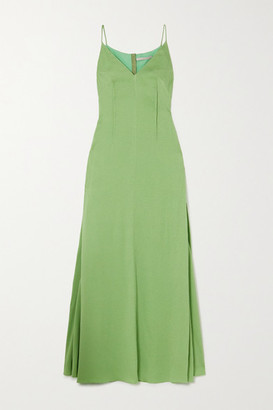 Emilia Wickstead Heber Hammered Silk-satin Gown - Green