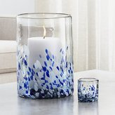 Crate & Barrel Rue Blue Candle Holders