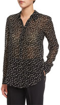 Theory Sunaya NC Starry-Print Silk Top