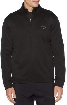 Callaway Ribbed Stand Collar Sweatshirt