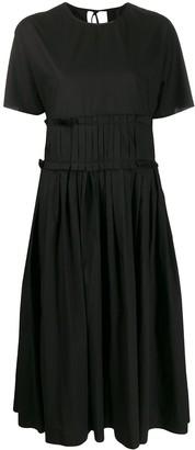 Sara Lanzi Pleated-Waist Midi Dress