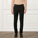 Ralph Lauren Purple Label Slim Leather-Trim Wool Pant