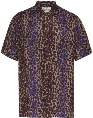 Wacko Maria Leopard Print Short Sleeve Shirt