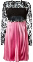 Fausto Puglisi floral lace pleated dress
