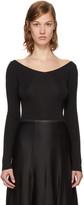 Lemaire Black V-neck Sweater