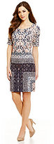 Antonio Melani Ollie Crew Neck Printed Crepe Dress