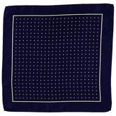 Black Navy and Yellow Polka Dot Italian Silk Pocket Square