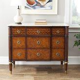 Safavieh Couture Collection Xristos European Beech/ Acacia Marble Walnut Storage 3-Drawers Chest