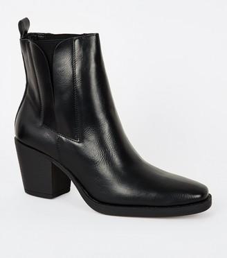 New Look Square Toe Block Heel Western Boots