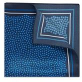 Hugo Boss Pocket Square 33 x 33 Silk Patterned Pocket Square One Size Blue
