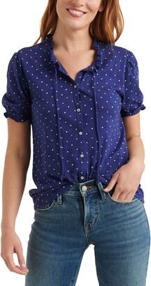 Lucky Brand Print Button-Up Shirt