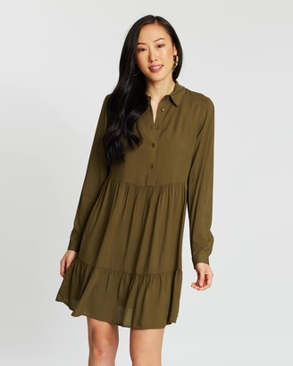 Dorothy Perkins Plain Frill Hem Shirt Dress