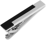 Ox and Bull Trading Co. Silver and Onyx Stairstep Tie Clip