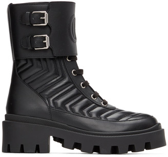 Gucci Black Interlocking G Ankle Boots