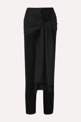Lado Bokuchava - Draped Crepe And Cotton-twill Straight-leg Pants - Black