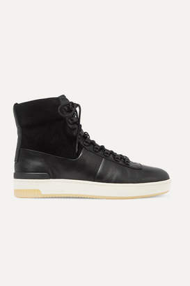Vince Rowan Leather And Suede High-top Sneakers - Black