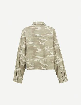 AllSaints Sol oversized camouflage-print denim jacket