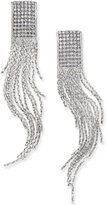Thalia Sodi Silver-Tone Crystal Fringe Earrings, Only at Macy's