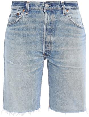 RE/DONE + Levi's Distressed Denim Shorts
