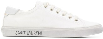 Saint Laurent Distressed-Effect Lace Up Sneakers