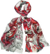 Jin Red Floral Scarf