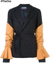 Jacquemus striped wrap blazer