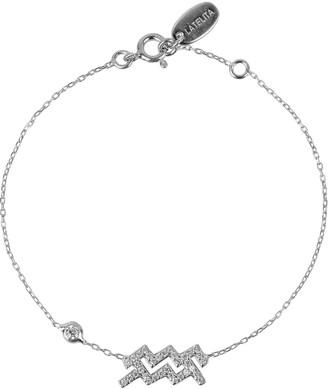 Latelita Zodiac Horoscope Star Sign Bracelet Aquarius Silver