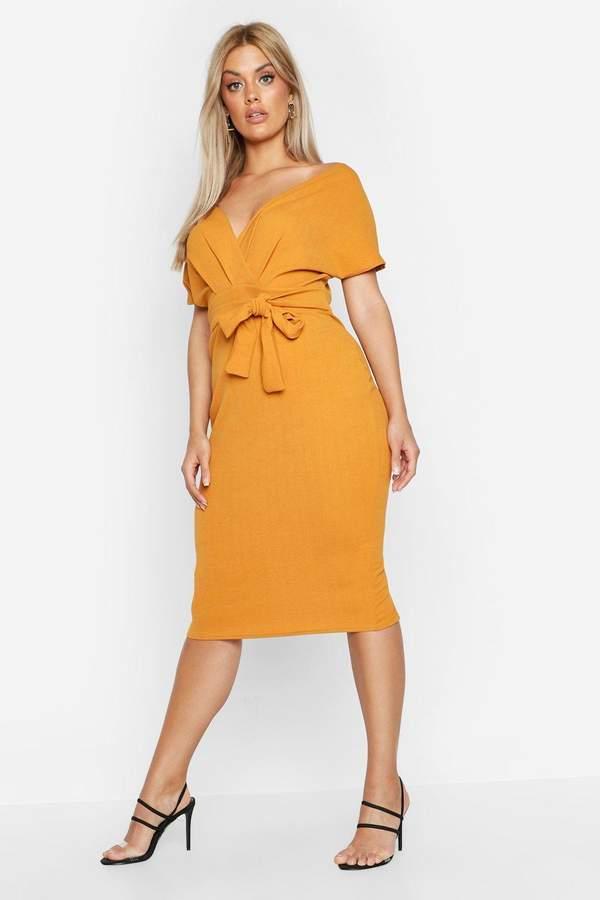 81e7166349a5 Mustard Off Shoulder Dress - ShopStyle