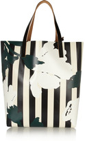 Marni Printed vinyl and leather shopper