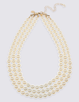M&S Collection Triple Row Necklace