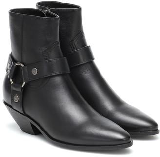 Saint Laurent West 45 leather ankle boots