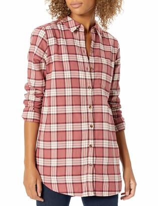 Goodthreads Amazon Brand Women's Brushed Flannel Boyfriend Tunic