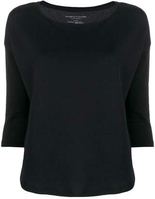 Majestic Filatures three-quarter sleeve knit sweater