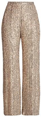 le superbe Bianca Sequin Flare-Leg Pants