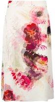 Lanvin chiffon A-line floral skirt