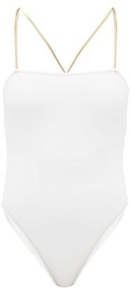 Reina Olga Chloe Square-neckline Swimsuit - White