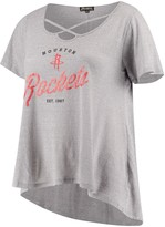 Unbranded Women's Gray Houston Rockets Criss Cross Front Tri-Blend T-Shirt