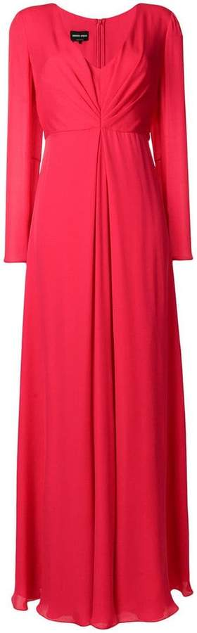 Giorgio Armani ruched long-sleeved dress