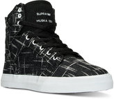 Supra Boys' Skytop Metallic Print High-Top Casual Sneakers from Finish Line