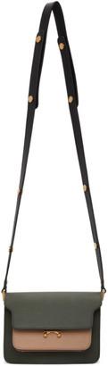 Marni Khaki and Black Mini Trunk Bag