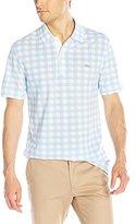 Lacoste Men's Short Sleeve Gingham Printed Mini Pique Slim Fit Polo Shirt