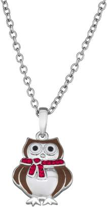 Kitschy Christmas Holiday Owl Pendant