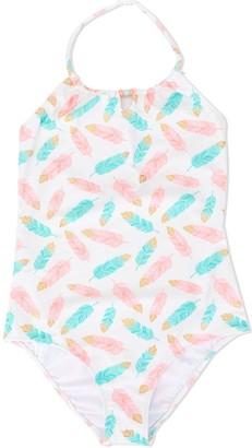 Sunuva Feather-Print Swimsuit