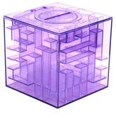 ECYC Creative Puzzle Maze Piggy Bank Transparent Coins Cash Money Box for Children's New Year Gift,Purple