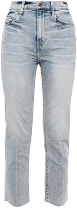 Current/Elliott The Pipe Dream Cropped Faded High-rise Slim-leg Jeans