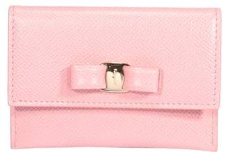 Salvatore Ferragamo Vara Bow Credit Card Holder