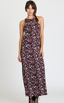 RVCA Junior's Tied Up Printed Maxi Dress