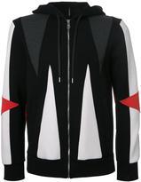 Neil Barrett geometric hoodie - men - Cotton/Lyocell - S